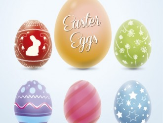 6 uova Pasqua colorate – colorful Easter eggs