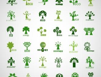 icone alberi – creative ecology tree icons