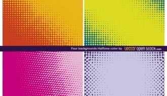 4 sfondi puntini – backgrounds halftone color