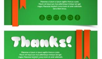 banner auguri grazie – greetings thanks banner