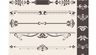 decorazioni, bordi – vintage ornaments with borders