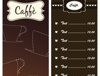 2 menu caffè – 2 coffee menu