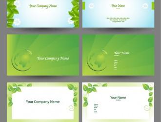 6 bigliettini verdi – elegant green natural business cards