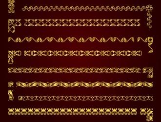 bordi dorati, cornici – golden borders with corners elements