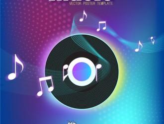 sfondo musica disco – music poster template