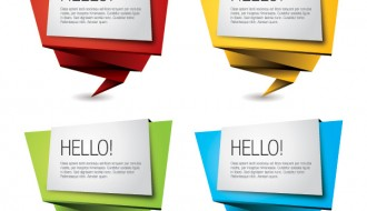 4 banner origami – colorful origami banners