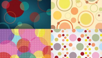 4 pattern cerchi – 4 seamless circle pattern