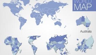 mappa mondo continenti – world map