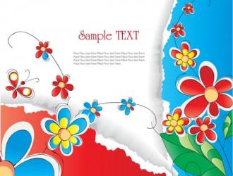 sfondo fiori e carta – flowers and paper background