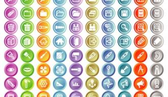 140 icone web – round web icons