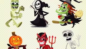 11 personaggi Halloween – Halloween cartoon characters set