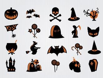 20 icone Halloween – Halloween scary symbols icon set