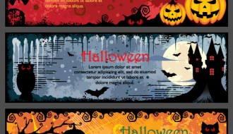 3 banner Halloween – Halloween night banner