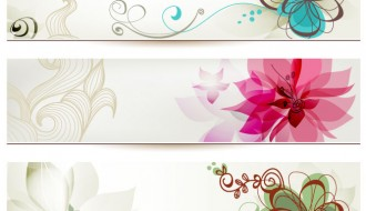 3 banner fiori – banner with floral