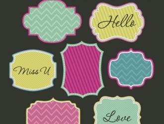 7 cornici – cute sweet frames