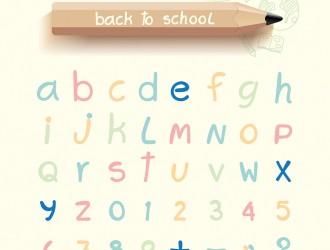 alfabeto, matita – creative alphabet, lapis