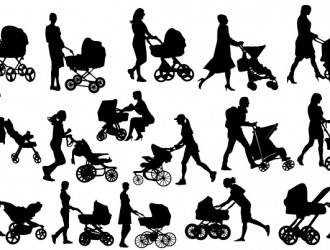 mamme con carrozzine – mother baby carriage