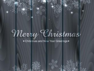 sfondo Natale legno e fiocchi di neve – wood and snowflake Christmas background