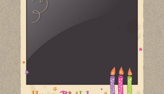 happy birthday photo frame – cornice foto compleanno