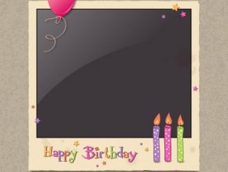 happy birthday photo frame – cornice foto compleanno
