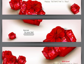 3 red gift banner – banner regali rossi