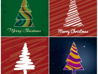 4 alberi di Natale – abstract Christmas trees