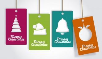 4 targhette Natale – 4 Christmas tag cards