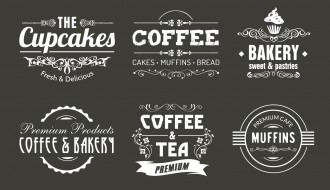 loghi caffè – coffee vintage labels, badges, logo