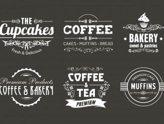 loghi caffè – coffee vintage labels, badges, logo