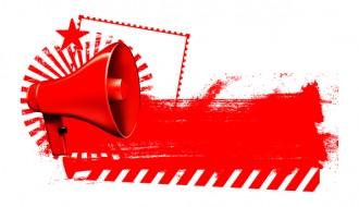 megafono rosso – red megaphone