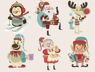 6 personaggi Natale – Christmas cartoon characters