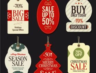 Christmas big sale  tags – targhette saldi Natale