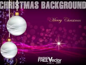 sfondo Natale viola con palline – purple christmas background with balls