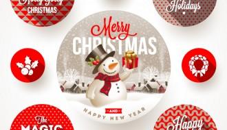 targhette rotonde Natale – round Christmas labels
