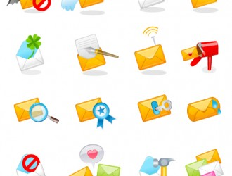 16 icone lettere – Beautiful Mail Icons