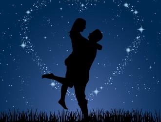 coppia di innamorati – couple love night stars