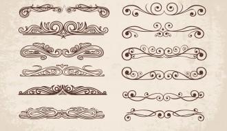 12 divisori ornamentali – swirl ornaments dividers