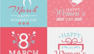 4 bigliettini 8 marzo – 8 march card
