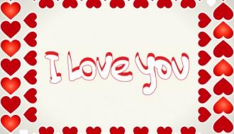cornice di cuori – hearts frame I love you