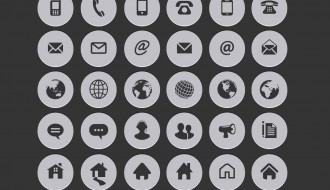 30 icone circolari internet – internet contact circle icons