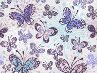 pattern farfalle – floral butterflies seamless pattern