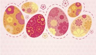 sfondo 6 uova di Pasqua – Easter floral vintage background