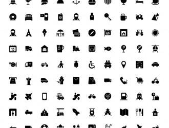 150 icone viaggi – travel icons