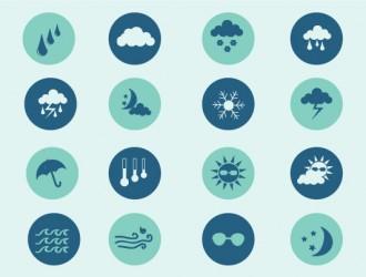 16 icone meteo – weather icons