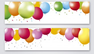 2 banner palloncini festa – party balloons banners