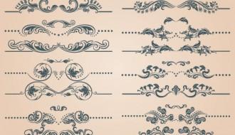 20 elementi decorativi – decorative elements with page decoration