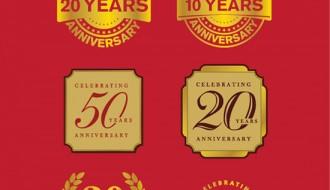 Celebrating Anniversary badges – anniversari stickers