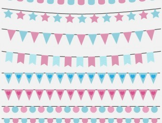 bandierine compleanno – birthday party flags set