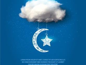 nuvole, luna, stelle – clouds, moon, stars