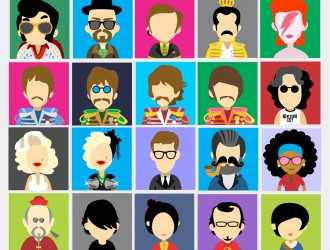 30 personaggi famosi – famous people avatars